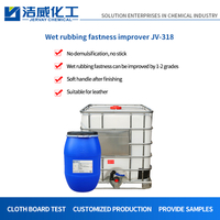 Nonionic wet rubbing fastness improver for leather JV-318
